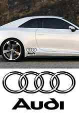 4 stickers autocollant Audi  Bas de caisse  A3 A6 A4 TT RS TTS Q3 Q5 Q7 (PROMO)