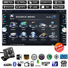 "Car Stereo 6.2"" Double 2DIN MP5 MP3 Player Bluetooth Touch Screen Radio+Camera"