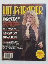 Hit Parader Jan 1980 Led Zeppelin Ted Nugent Kiss Cheap Trick REO Speedwagon