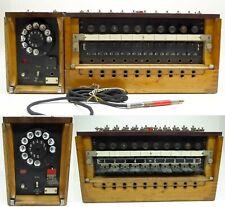 Kleiner Klappenschrank mit Wählzusatz Amtszusatz 33 2.WK 2.war Telefon telefono