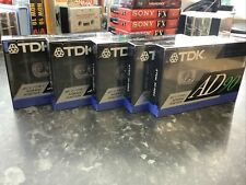 More details for tdk ad90 x5 new & sealed ad90 cassette tapes