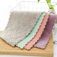 Super Absorbent Microfiber Kitchen Dish Cloth Household Cleaning-Towel- X0V H8M0