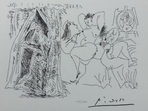 Pablo Picasso(After) - Pope Voyeur - Lithography Erotic Signed #1200ex