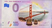 BILLET 0  EURO USA SAN FRANCISCO GOLDEN GATE COULEUR 2019  NUMERO DIVERS