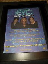Eyc Only A Dream Rare Original Radio Promo Poster Ad Framed!