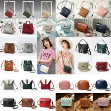 Lady Leather Small Cross Body Handbag Shoulder Bags Tote Purse Messenger Satchel
