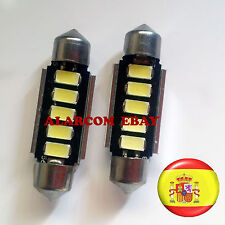 2 x bombillas led 39mm C5W Festoon 5 SMD 5630 Canbus No Error #1008