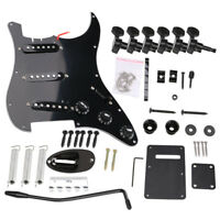22Pcs Electric Guitar Parts Kit Pickup Loaded Prewired Pickguard Tuning Pegs Set