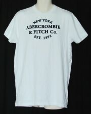 Abercrombie & Fitch Mens XXL Muscle Tee New York White Shirt NY A&F 2XL T-Shirt