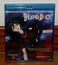 BLOOD C-VOLUMEN 3-EPISODIOS 9-12-COMBO BLU-RAY+DVD-NUEVO-PRECINTADO-MANGA-COMIC
