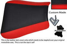 RED & BLACK CUSTOM FITS TRIUMPH 01-05 SPEED TRIPLE 955 i FRONT SEAT COVER