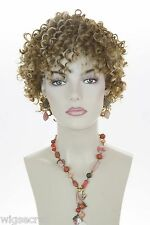 Short Curly Wig Features Tight Spiral Curls Medium Length Blonde Brunette Wigs