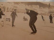 More details for photograph portrait  ice skater where st motitz ??  private postcard