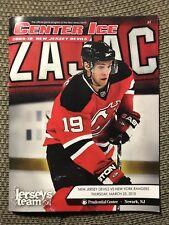 New Jersey Devils Center Ice Program 2009-10 Travis Zajac 3/25/10