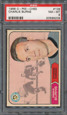 1968/69 O-Pee-Chee OPC #108 Charlie Burns PSA NM-MT 8 *9208