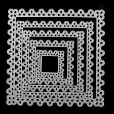 5x Cutting Dies Stencil DIY Scrapbooking Album Paper Embossing Flower Square