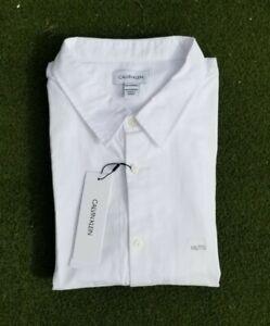 Calvin Klein Men's Stretch Extensible White Shirt XXL $69.50