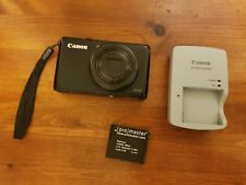 Black CANON POWERSHOT S95 PC1565 10MP CAMERA BATTERY + CHARGER - Tested Working