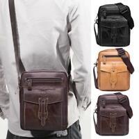 BULLCAPTAIN Shoulder Packs Business Men Genuine Leather Crossbody Bags Clutch