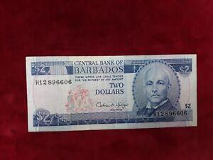 Barbados banknote Of 2 Dollars REF39157