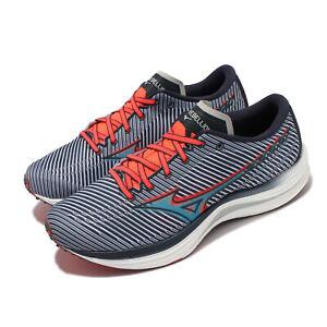 Mizuno Wave Rebellion Blue Orange White Men Running Shoes Sneakers J1GC2117-28