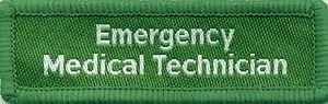 Emergency Medical Technician Badge Patch Flash 7.5cm x 2.4cm