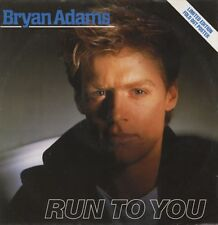 """Bryan Adams Run to You - UK 12"""" Limited Fold Out Picture Sleeve!!"""