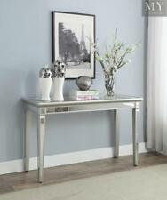 GRACE Console or Hallway Table Mirrored Panels Toughened Glass Top