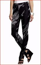 BCBG MAXAZRIA CAMERON BLACK COMBO LEGGING PANT SIZE L NWT $158-BoxB/15