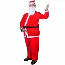 vidaXL Santa Claus Christmas Costume Suits Set Mens Father Fancy Dress Adult