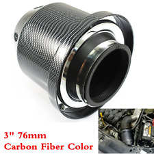 "Universal 76mm3"" Car Cold Air Intake Induction Air Filter Kit Carbon Fiber Color"
