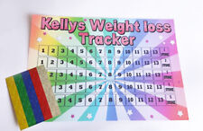 Weight Loss Chart A4 Slimming Dieting 1-10 stone tracker Laminated sticker WW SW