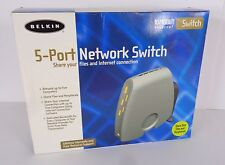 Belkin F5D5130u5 5-Port 10/100 Ethernet Network Switch with Power Cable