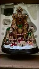 More details for danbury mint the golden retriever family christmas tree , with lights