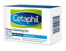 Cetaphil Deep Cleansing Bar, Body & Face, All Skin Types 4.5 Oz