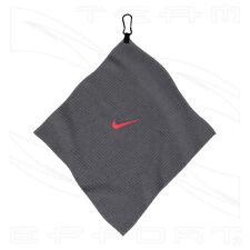 Nike Charcoal Waffle Weave Microfibre Golf Towel - Nike Golf Towel 35cms x 35cms