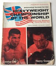 1963 Heavyweight Championship Program Cassius Clay vs Henry Cooper