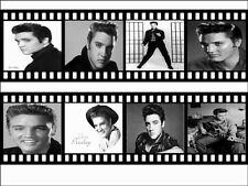 Elvis Presely Black And White Film Roll Edible Cake Topper / Cake Border