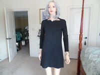 Kate Spade New York Broome Street Black Ponte Knit Sheath Dress Size XS