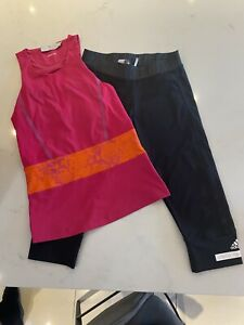 Stella McCartney Adidas Climalite Gym Set - Vest & Cropped Leggings Size S