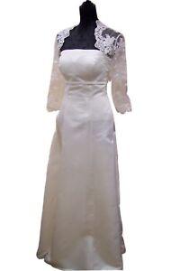 NEU schwanger Umstandsbrautkleid Hochzeitskleid mit Bolero weiß oder creme