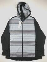 Adidas Womens XL Rangewear Casual Hooded Full Zip Black Gray Golf Jacket Top $80