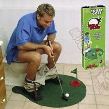 Neu Toilette Minigolf Set Golfspiel-Set Toilettengolf Trainer WC Herren Geschenk