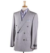 NWT $3295 BELVEST Gray Lightweight Seersucker Silk Summer Suit 40 R (Eu 50)