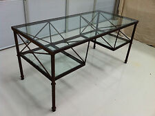 Designer Glass Desk Retro Chic Believed to be Early Andrew Martin