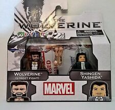 Marvel Minimates The Wolverine 2 pk Wolverine (Street Fight) and Shingen Yashida