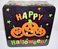 Happy Halloween Pumpkins Tin Box
