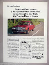 Mercedes-Benz 280E Sedan PRINT AD - 1977