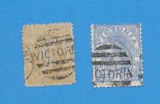 Victoria Australia - scott 114 & 116; Sg 134 & 136