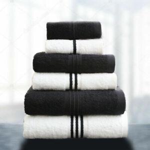 HURBANE HOME 6 pcs 100% Cotton Towel Bale Set Bath and Hand Towels 2 pcs Each